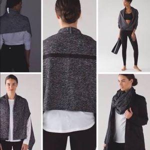 Grey and white Lululemon Vinyasa scarf